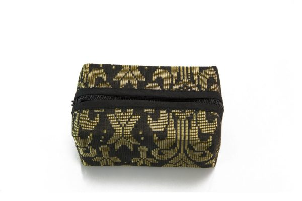 Block Coin Pouch Songket (Black) 1