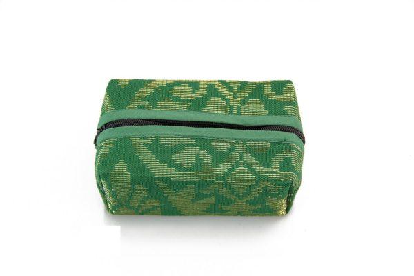 Block Coin Pouch Songket (Green) 1