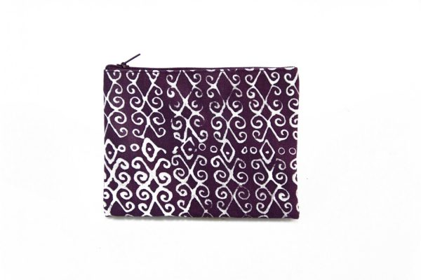 Cotton Zip Purse (Purple)