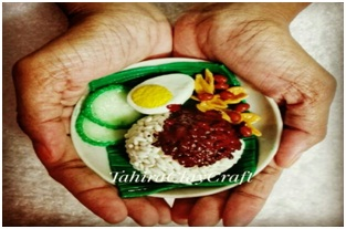 CLAÝ FOOD MINIATURE NASI LEMAK
